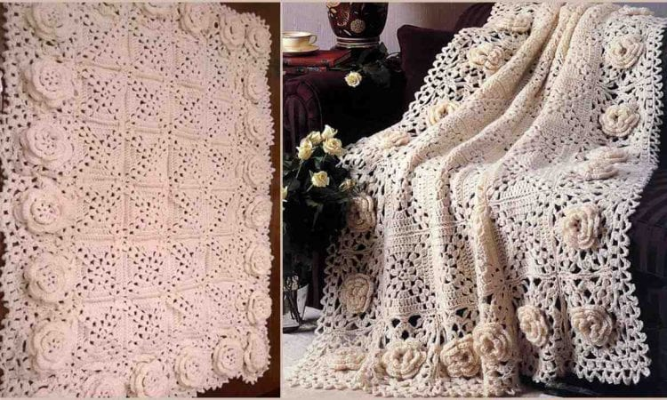 Roses Remembered Afghan Free Crochet Pattern