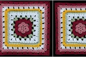 Veronica's Rose Square Free Crochet Pattern