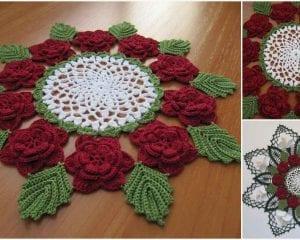 Victorian Rose Doily Free Crochet Pattern