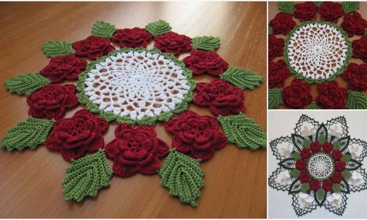 Victorian Rose Doily Free Crochet Pattern