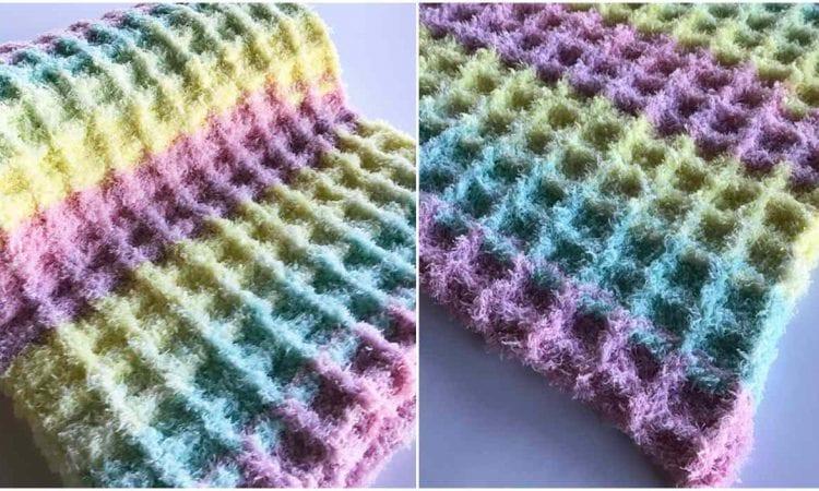 Baby Waffle Blanket Free Crochet Pattern