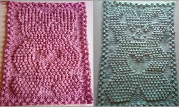 Bear Heart Baby Blanket Free Crochet Patterns | Your Crochet