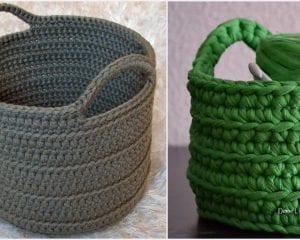 Chunky Basket Free Crochet Pattern