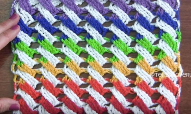 Colorful Cable Stitch Free Crochet Pattern