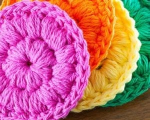Cotton Face Scrubbies Free Crochet Pattern