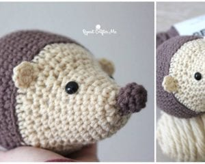 Cute and Quick Hedgehog Free Crochet Pattern