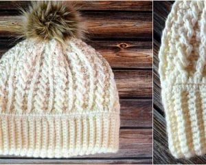 Double Brim Cable Hat Free Crochet Pattern