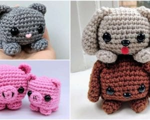 Easy Cube Animals Free Crochet Pattern