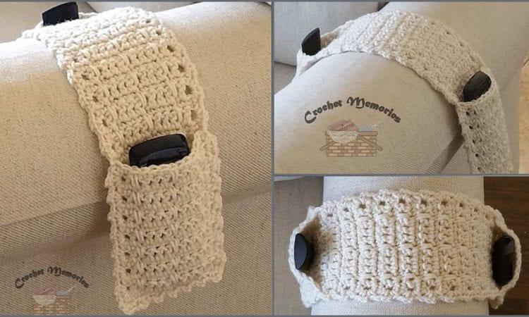 Easy Dual Remote Caddy Free Crochet Pattern