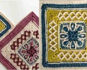 Esme's Winter Cottage Square Free Crochet Pattern