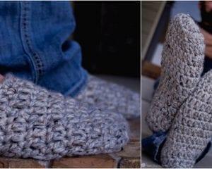 Fast Men's Slippers Free Crochet Pattern