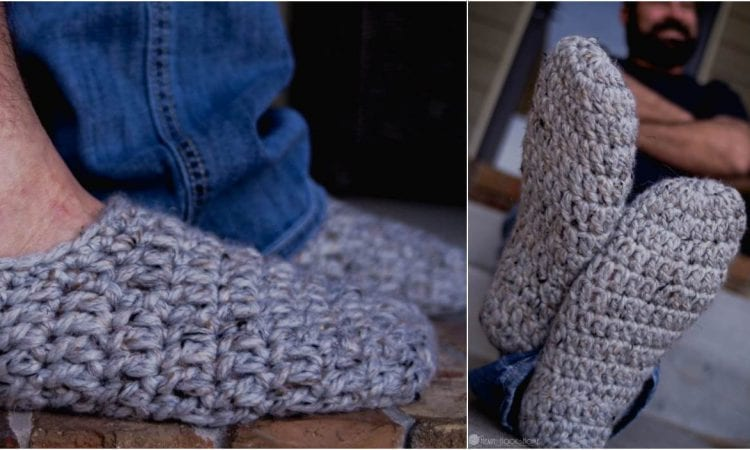 Fast Mens Slippers Free Crochet Pattern Your Crochet