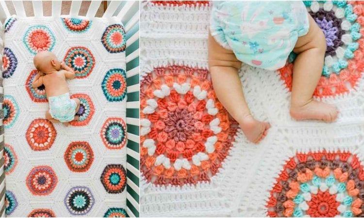 Grandmother's Flower Baby Blanket Free Crochet Pattern