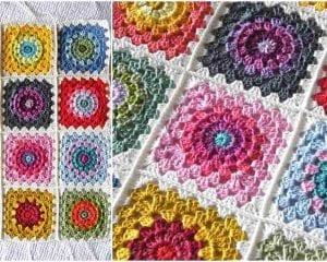 Happy Flower Block Free Crochet Pattern