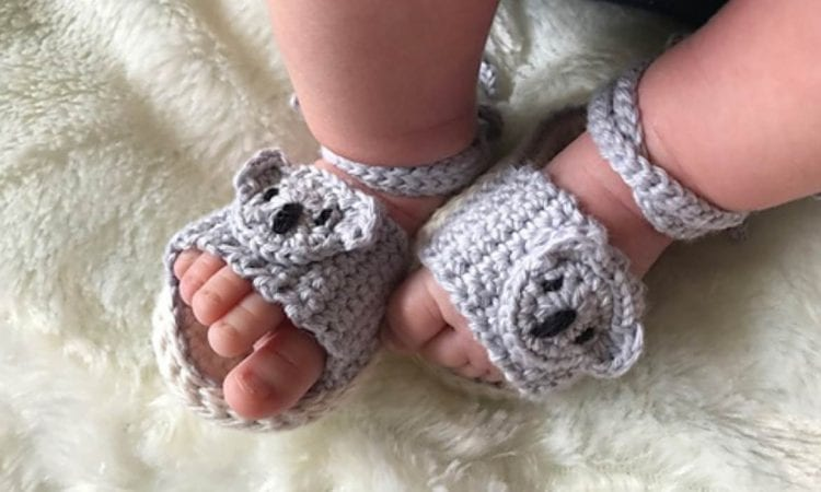 Koala Kids Sandals Free Crochet Pattern