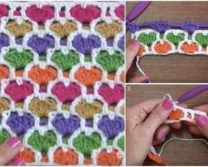 Reversable Moroccan Heart Stitch Free Pattern