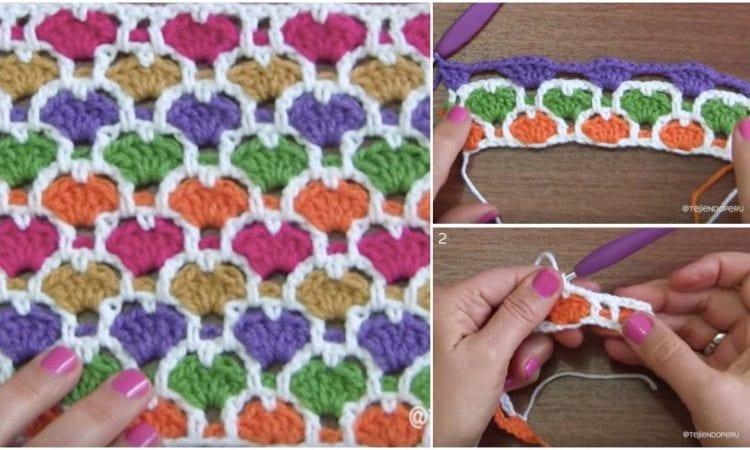Reversable Moroccan Heart Stitch Free Pattern