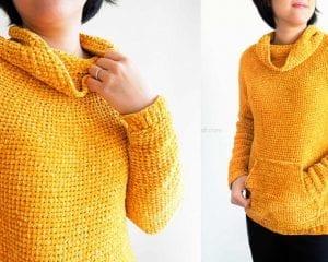 Mysa Velvet Sweatshirt Free Crochet Pattern