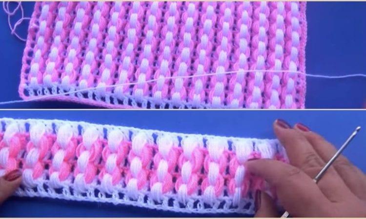 Puff Stitch for Blanket Free Crochet Pattern