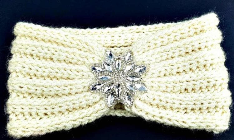 Rhinestone Ear Warmer Headband Free Crochet Pattern Your Crochet
