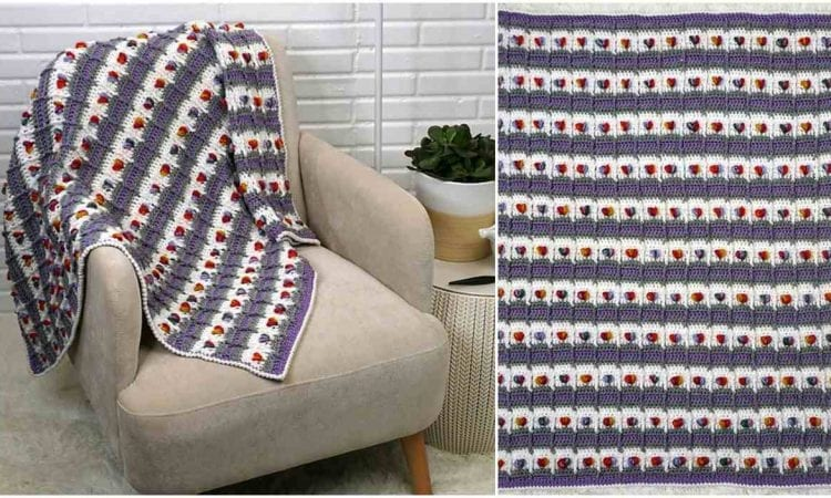 Rows of Love Baby Blanket Free Crochet Pattern