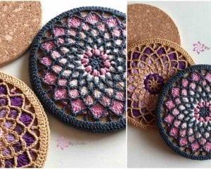 Solstice Trivets Free Crochet Pattern