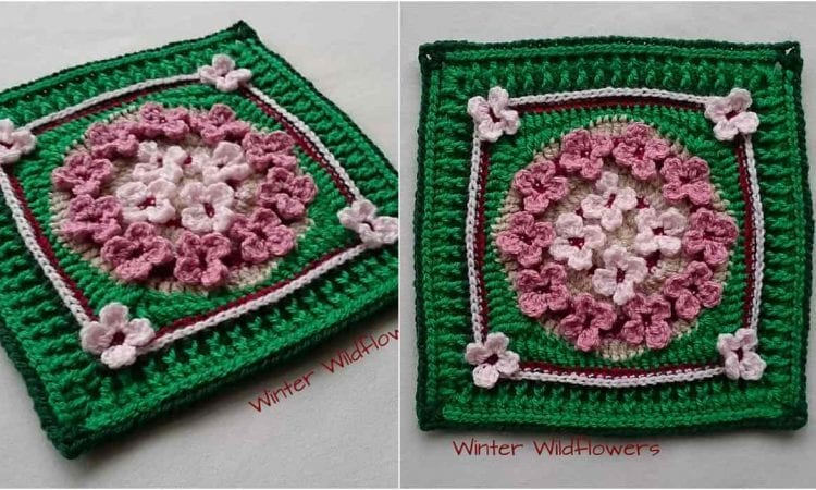 Winter Wildflowers Free Crochet Pattern