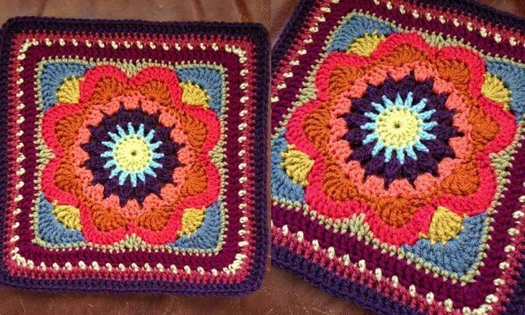 "Emmalynn Square 12"" Free Crochet Pattern"