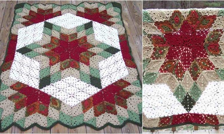 Praire Star Throw Free Crochet Pattern