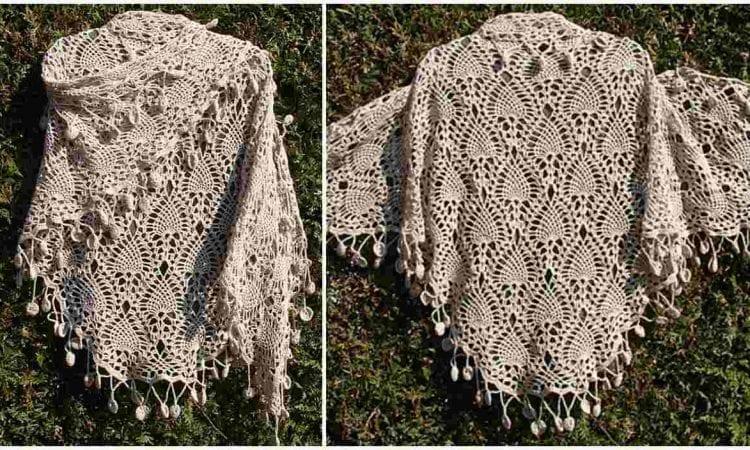 Sidewalk Shawl Free Crochet Pattern