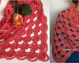 A Hearty Hello Shawl Free Crochet Pattern