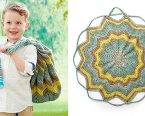 Convertable Blanket to Bag Free Crochet Pattern