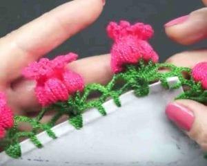 Crochet Flower Edging Free Pattern