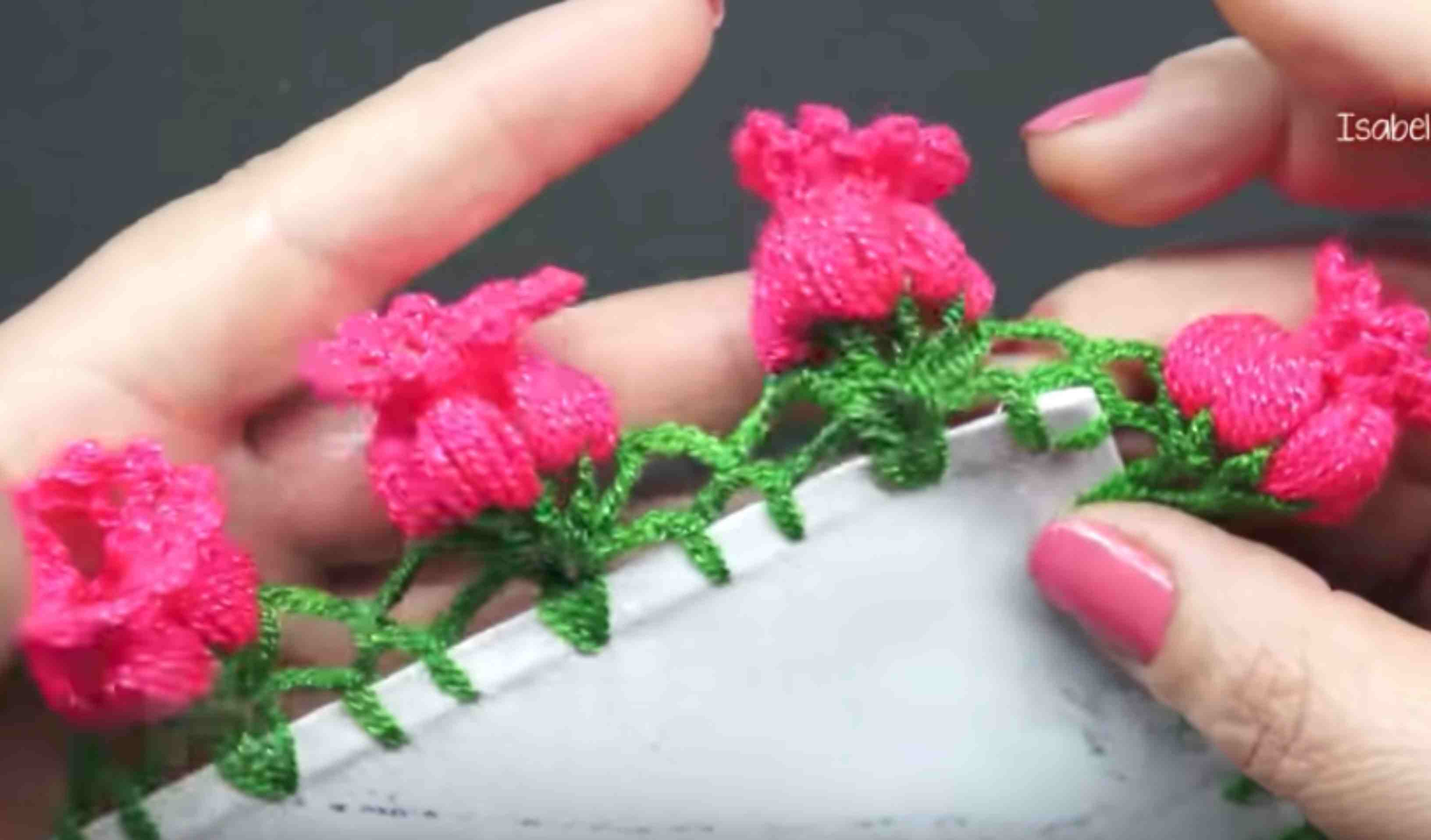 Crochet Flower Edging Free Pattern