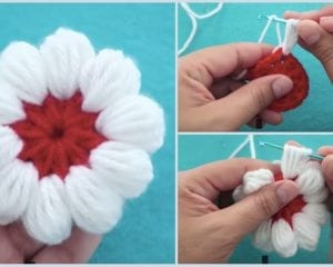 Puff Stitch Flower Free Crochet Pattern