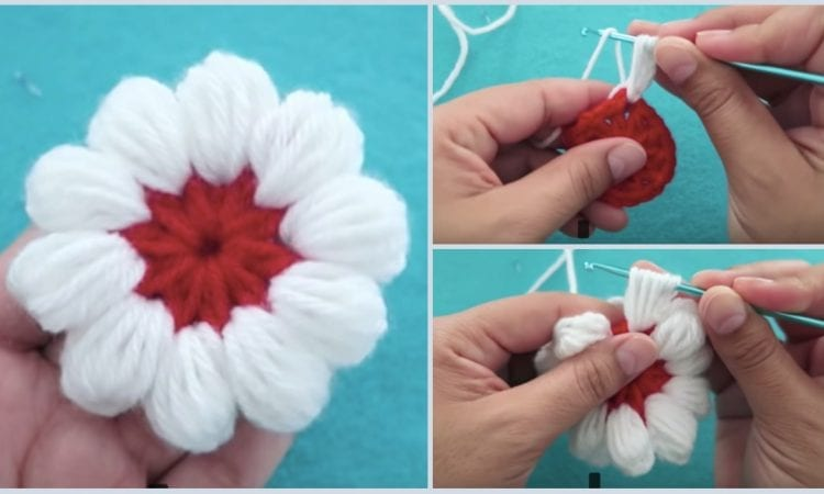 Puff Stitch Flower Free Crochet Pattern