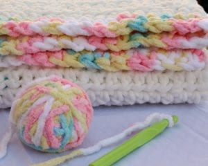 Easy Baby Blanket Free Crochet Pattern