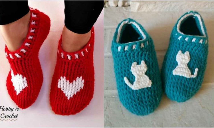 Easy and Fast Slippers for Everyone Free Crochet Pattern