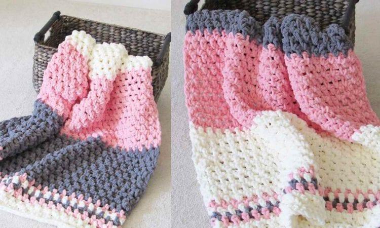 5 Hours Baby Blanket Free Crochet Pattern