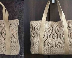 Flower Tote Bag Free Crochet Pattern