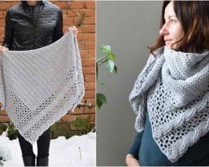 Living Lagom Shawl Free Crochet Pattern