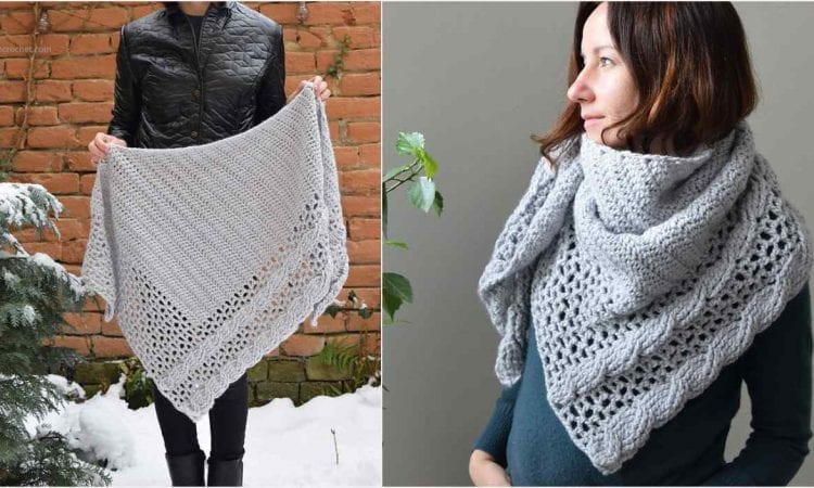 Living Lagom Shawl Free Crochet Pattern