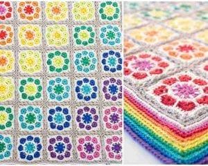 Magic Rainbow Baby Blanket Free Crochet Pattern