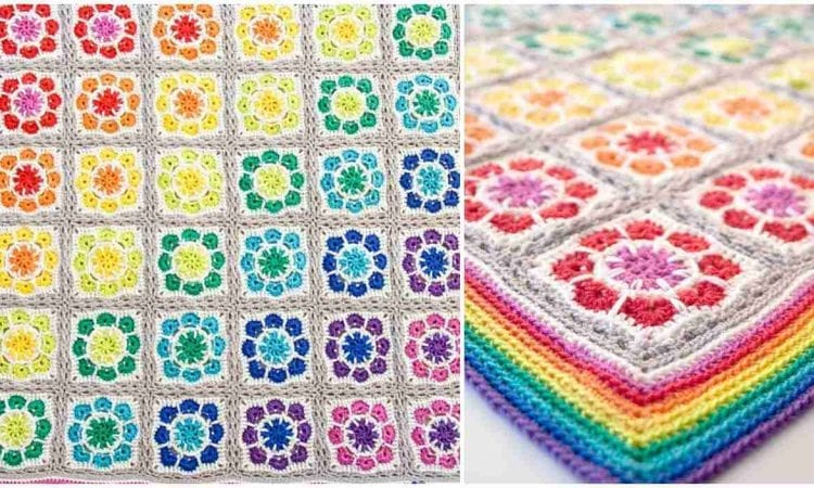 Magic Rainbow Baby Blanket Free Crochet Pattern Your Crochet