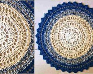 Mandala Floor Rug Free Crochet Pattern