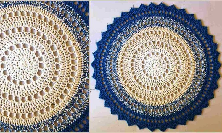 Mandala Floor Rug Free Crochet Pattern Your Crochet