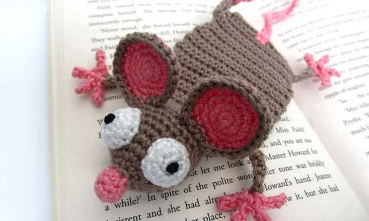 Mouse Bookmark Free Crochet Pattern