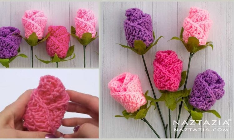 Origami Rose Flower Free Crochet Pattern