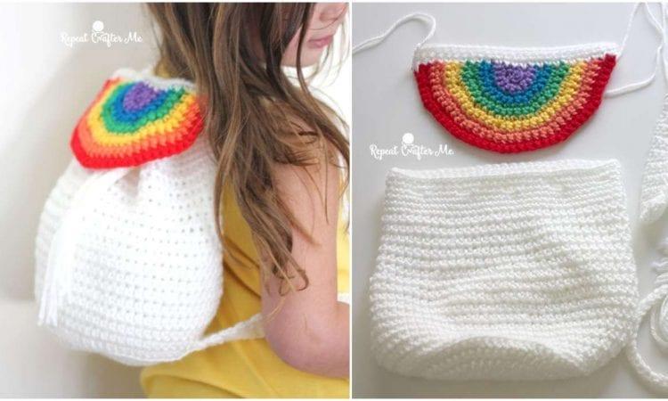 Rainbow Backpack Free Crochet Pattern