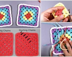 Seamless Perfect Granny Square Free Crochet Pattern and Video Tutorial